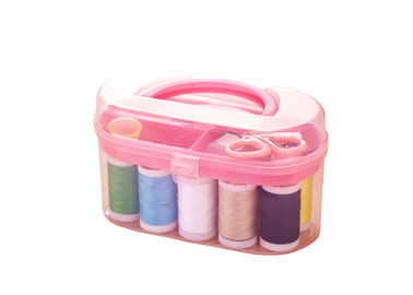 Household Travelling Mini Sewing Kit Set Plastic Needle Box With Sewing Accessories